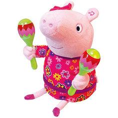 """Интерактивная мягкая игрушка """"Свинка Пеппа"""" Пеппа с маракасами"""", 30 см Росмэн"""