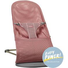 Кресло-шезлонг BabyBjorn Bliss Mesh, темно-розовый