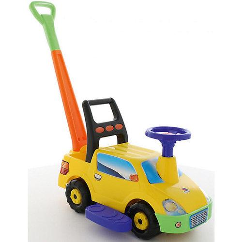"""Машинка-каталка Полесье """"Пикап № 2"""" с ручкой, жёлтый"""