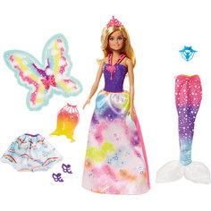 "Кукла Barbie ""Сказочная принцесса-фея-русалка"" Mattel"