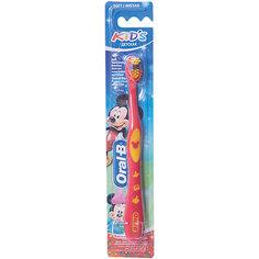 Детская зубная щетка Oral-B Kids от 3 лет мягкая, красно-розовая