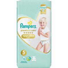 Трусики Pampers Premium Care 12-17 кг, размер 5, 52шт.