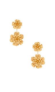 Серьги double floral dangle - Jennifer Behr