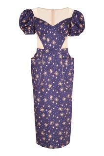 Платье из хлопка с цветочным принтом Ulyana Sergeenko