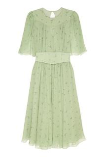 Шелковое платье с плиссировкой Ulyana Sergeenko