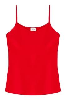 Шелковый топ красного цвета Izeta