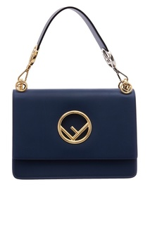 Сумка из синей кожи с логотипом Fendi