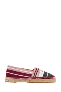 Эспадрильи из розового текстиля Fendi