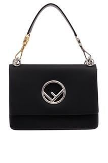 Черная сумка с монограммой Fendi