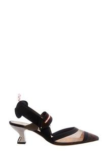 Туфли с сетчатой вставкой Fendi