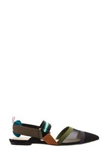 Комбинированные туфли Fendi