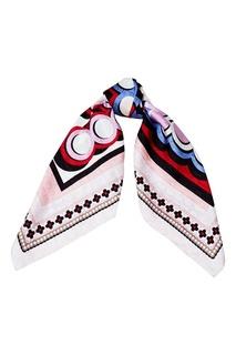 Шелковый платок с геометрическим принтом Fendi
