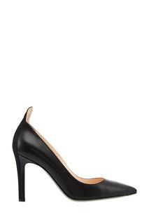 Черные кожаные туфли Fendi