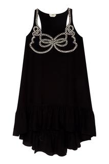 Платье с жемчужной отделкой Fendi