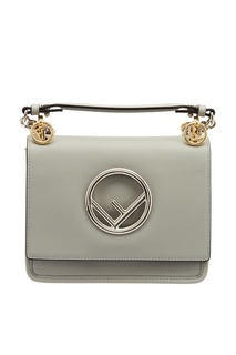 Серая сумка с логотипом Fendi