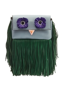 Голубая сумка с бахромой Fendi