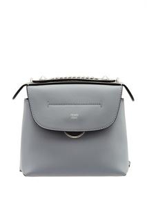Голубая сумка из кожи Fendi