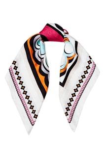 Шелковый платок с логотипом Fendi