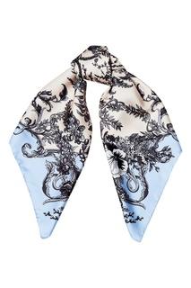 Платок из шелка с растительным принтом Fendi