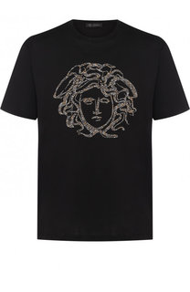 Хлопковая футболка с отделкой Versace