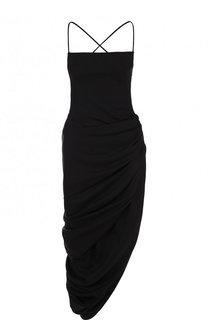 Шерстяное платье-миди асимметричного кроя Jacquemus