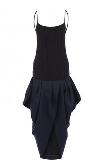 Однотонное хлопковое платье с открытой спиной Jacquemus