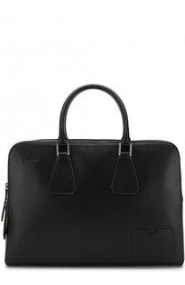 Кожаная сумка для ноутбука с плечевым ремнем и папкой для документов Dsquared2