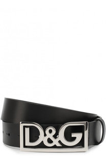 Кожаный ремень с фигурной пряжкой Dolce & Gabbana