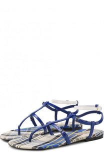 Кожаные сандалии с ремешками Burberry