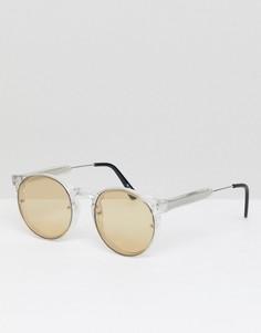 Круглые солнцезащитные очки с желтыми стеклами Spitfire - Очистить