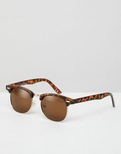 Классические солнцезащитные очки в стиле ретро с поляризованными стеклами ASOS - Коричневый