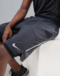 Черные шорты 2-в-1 длиной 9 дюймов Nike Running Distance AQ0053-010 - Черный