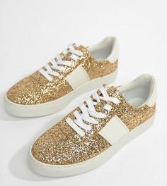 Кроссовки на шнуровке ASOS DESIGN Drizzle - Золотой