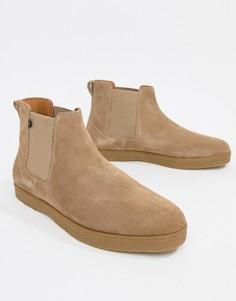 Замшевые ботинки челси Farah Sonny - Бежевый