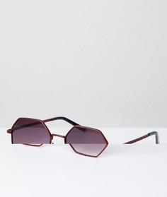 Восьмиугольные солнцезащитные очки AJ Morgan - Красный
