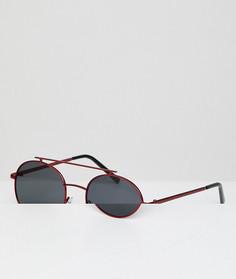 Круглые солнцезащитные очки с красными стеклами AJ Morgan - Красный