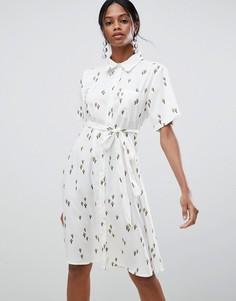 Платье миди с принтом Liquorish - Белый