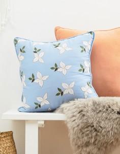Подушка из шамбре 45 x 45 см Elizabeth Scarlett - Мульти