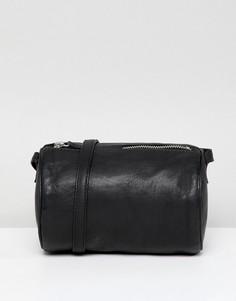 Кожаная сумка через плечо ASOS DESIGN - Черный