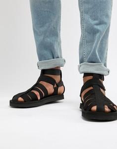 Черные гладиаторские сандалии ASOS DESIGN Tech - Черный