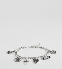 Серебристый браслет с подвеской Reclaimed Vintage Inspired PLUS эксклюзивно для ASOS - Серебряный