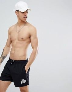 Черные шорты для плавания с логотипом Kings Will Dream Tolson - Черный