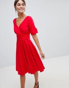 Платье миди с запахом Closet - Красный