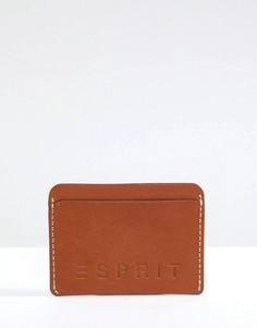 Кожаная кредитница Esprit - Рыжий