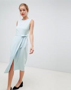 Платье-футляр с V-образным вырезом на спине Closet London - Синий