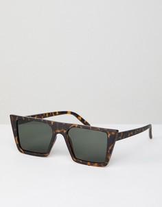 Квадратные солнцезащитные очки в матовой черепаховой оправе AJ Morgan - Коричневый