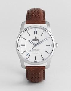 Часы с коричневым кожаным ремешком Vivienne Westwood VV185SLBR Holborn II - Коричневый