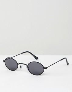 Черные круглые солнцезащитные очки Jeepers Peepers - Черный