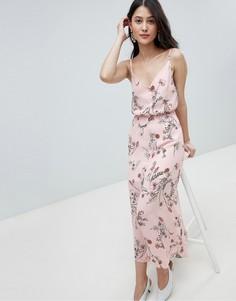 Платье макси с цветочным принтом Oh My Love - Розовый