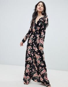 Платье макси с цветочным принтом Oh My Love - Мульти